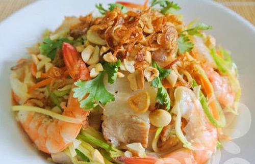 Cách làm gỏi sứa tôm thịt không tanh ngon ngất trời xanh