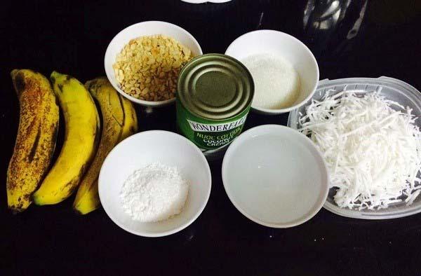 Nguyên liệu làm kem chuối dừa
